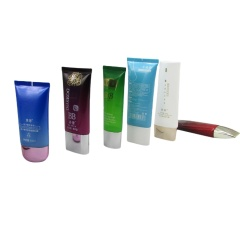 Customized Color Empty 50ml 60ml Flat Cosmetic Tube with Sliver Cap