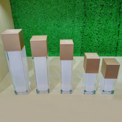 Wholesale High Quality Square Cosmetic Bottle and Jar for Skin care
