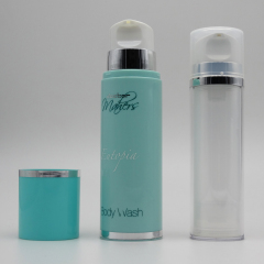 wholesale round clear airless serum pump bottle 200ml silver airless lotion bottle