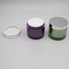 wholesale round large new designed cream jars 4oz 200g cream logo jars packaging