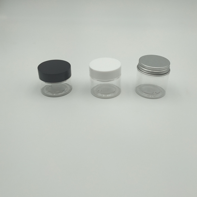 Wholesale Small Size 30ml 25ml 20ml Clear PET  Plastic Jars with Lid