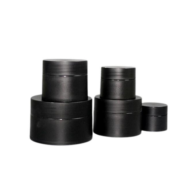 Custom Matte Black PP Plastic 10ml 5ml Cosmetic Jar for Skin Care