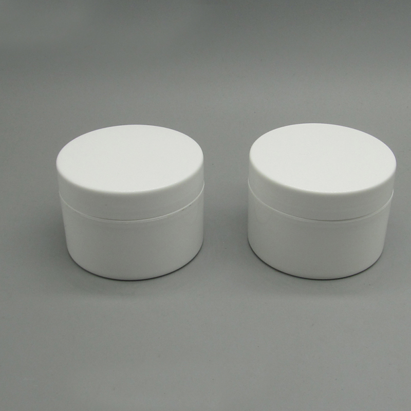 20g White Round Plastic Cosmetic Nail Gel Jar for Skin Care