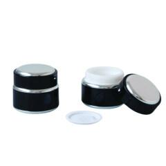 Eco Friendly 15ml 30ml 50ml Luxury Aluminium Packaging Glass Cream Jars For Skin Care