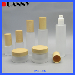 DNLB-507 Frosted Glass Cosmetic Bottle Set