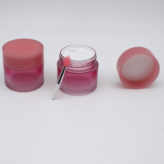 Duannypack Pink 20g clear lavender lip exfoliator balm jar with spoon