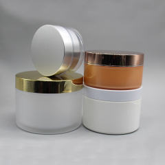 High Quality Colorful AS Cosmetic Packaging Double Wall Cream Jar