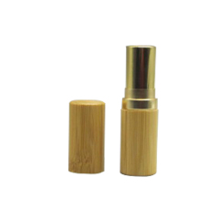 DNTL-554 Round Empty Bamboo Lipstick Tube Container