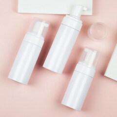 Wholesale Round Cosmetic Plastic Face Cleanser 150 ml Foam Pump Bottle