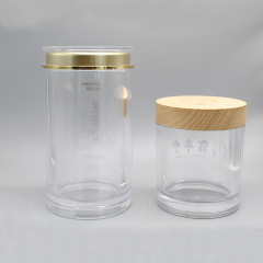 HIGH PROFILE JAR WITH WOOD LID DNJF-564