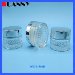 Wholesale Round 30g 50g Small Glass Clear Cosmetic Cream Jar Container with Screw Cap for Skin Care