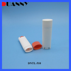 DNTL-510 Oval Shape Plastic Lip Balm Tube Container