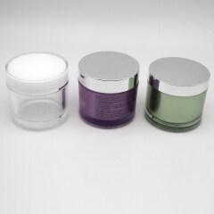 wholesale 200g 200ml acrylic round large acrylic cosmetic cream round jar packaging