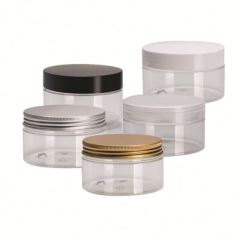 Wholesale New Style Pet Aluminum Cap Jars Wide Mouth Mason Cosmetics Hand Cream Jar