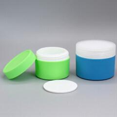 Unique Design Stackable  2oz 60g 100g 200g  Round PP Plastic Cosmetic Cream Jar and Lid