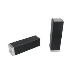 DNTL-551 Plastic Lighted Matte Black Lipstick Case