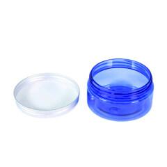 Custom 100ml 4oz 200ml 8oz Blue Plastic PET Jar With Aluminium Lid