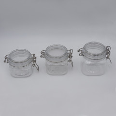 wholesale Recycle Brown Empty Transparent White Amber Cosmetic Jar Plastic