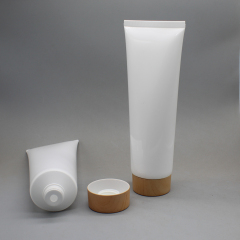 120ml Plastic Empty Cream Tube Packaging with Wood Lid