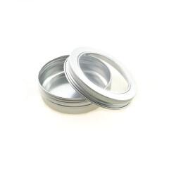 Empty 100ml Aluminum jar 100ml Aluminium Tin with Screw Lid
