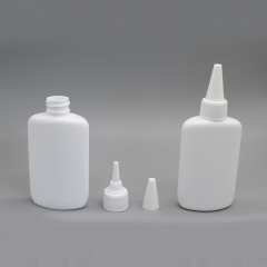 DNNX-502 Plastic Oval Shape Glue Bottle with Cap for Nail Glue