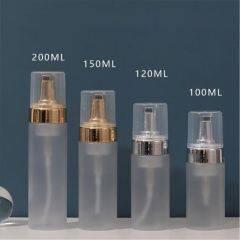 Wholesale Makeup Remover Manual Amber Foaming Pump Empty Plastic Brown Gold Foam Bottle