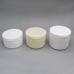 50g 60g 100g round plastic cosmetic flip top cream jar