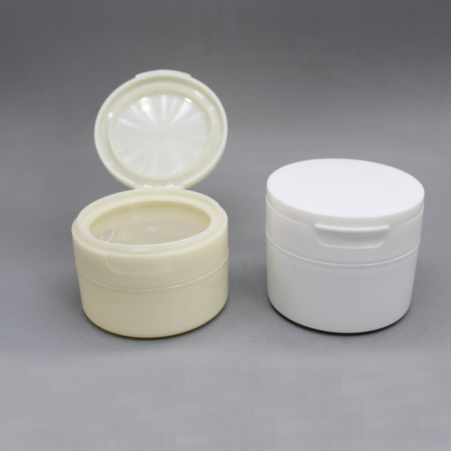 50g 60g 120g round flip top cap jar flip top lids cream jar