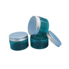 Private Label 8oz Clear Plastic PET Jar with Aluminum Lid