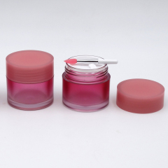 Duannypack Pink cosmetic lip scrub jar with spoon round empty jar for lip balm
