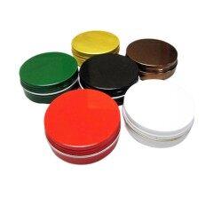 Custom Black Round Aluminium Container Packaging Can 15ml 30ml 50ml 60ml 100ml 120ml 150ml Aluminum Jar Tin with Screw Lid