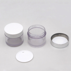 Duannypack clear petg plastic cosmetic jars container for skin care plastic cream jar cosmetic