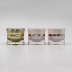 Waist Shaped Acrylic Cream Jar for nail acrylic Cosmetic Packaging Jar 5g 15g 30g 50g acrylic plastic jar