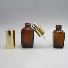 DNLB-502 Square Glass Lotion Pump Bottle