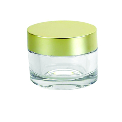 Luxury 15g 30g 50g 100g Clear PETG  Plastic Cosmetic Cream Jar with Silver Double Wall Lid