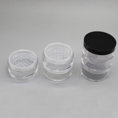 Wholesale Luxury Round Stackable Loose Powder Jar for Powder