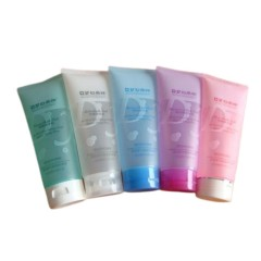 High Quality Empty 250ml 8 oz Transparent Body Cream Squeeze Tube with Flip Top Cap