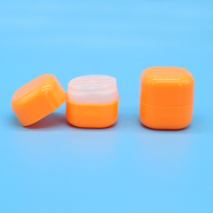DNTL-522 Plastic Colorful Square Lip Balm Container