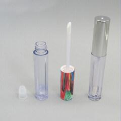 5g Clear Plastic Cosmetic Lip Gloss Tube with Aluminum 5g Lip Gloss Tube