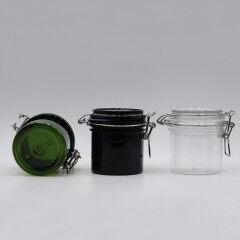 High quality custom black empty Ceramic Eco Friendly Body Cream Jar Cosmetic