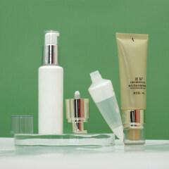 Wholesale 15ml 30ml 50ml 75ml pink pcr cosmetic eye cream airless pump tube 15ml oval airless pump cosmetic tube