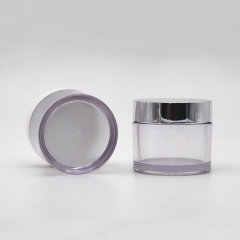 Wholesale clear PETG round cream jar cosmetics containers plastic cosmetic cream jars