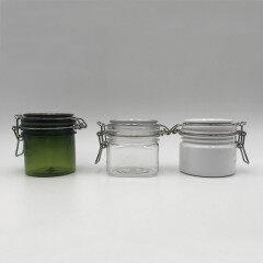 skin care container square plastic eco friendly private label luxury empty cosmetic jars