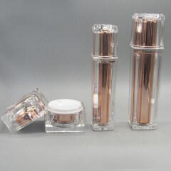 DNCS-528 Acrylic Gold Square Cream Set