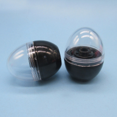 DNTL-515 Black Empty Lip Balm Tube Container with Clear Top