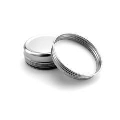 Empty 2 oz Aluminum jar 60ml Aluminium Tin with Screw Lid