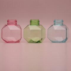Duannypackl new design clear pink blue green 300ml petg custom foam lash cleanser flower pump foam sanitizer bottle