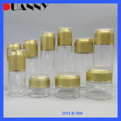 DNLB-508 Clear Glass  Lotion Bottle and Jar Set