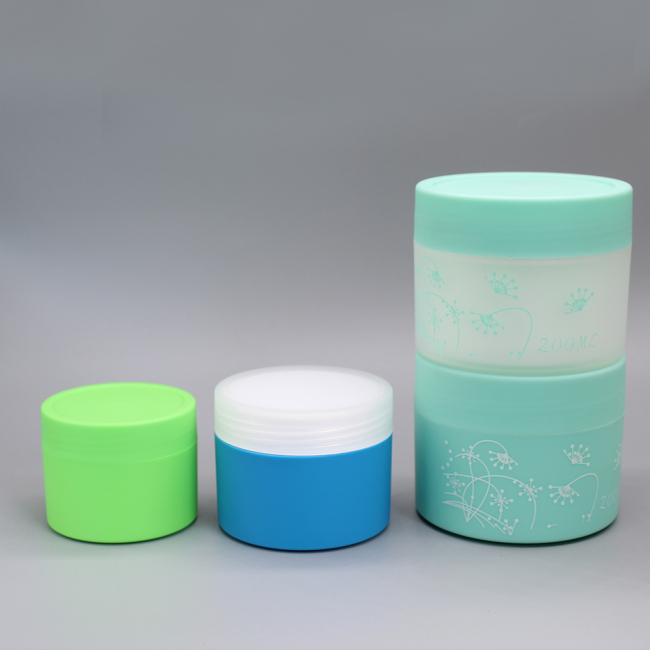 Hot Sale 100ml Colorful Plastic Cosmetic Cream Jar Container for Skin Care