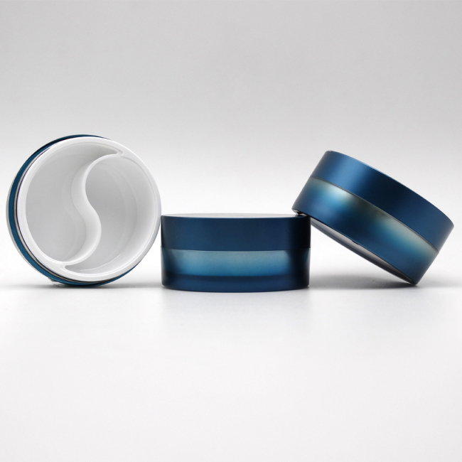 round shape dual chamber cream jar DNJS-505